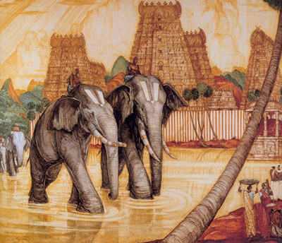 Обои для рабочего стола Красивые индийские слоны.